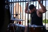 Eastern Spell drummer Eric Rancourt hits heavy. Very heavy.