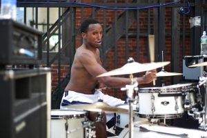 Holyfilth drummer Ethan Henderson at Mathew's 3rd annual Roof Party earlier this month. Henderson is leaving the band.