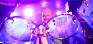 Will Broadbent sits front and center at Asylum's stage in July when Ogre opened for Dinosaur Jr.