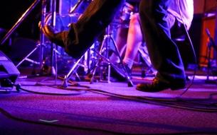 OGRE bassist/singer Ed Cunningham levitates, apparently.