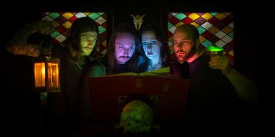 HESSIAN. From left: Dann Rich, Angus McFarland, Salli Wason and Tim Webber. (Photo by Ben McCanna)