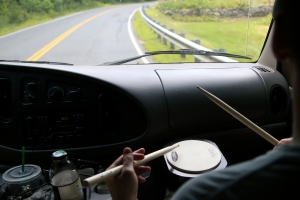 Tim Webber warms up on the road to RPM Fest.