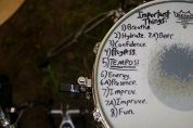 Affirmation snare, from drummer Dan DeLucia of the awesome band Carnivora (https://www.facebook.com/carnivoramass).