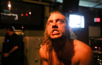 If there's an award for Most Photogenic Person in the Portland Heavy Scene, it goes to this guy. Zak Haab is never not interesting. I've got dozens of shots of Haab and they're all gold, mostly because he knows heavy music can only be improved through theatricality. Here, his eyes roll back into his head during the final performance of Dead By Now. (I've said it before and I'll say it again: God damn, I miss that band.)