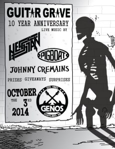 10th anniversary party for Guitar Grave tonight at 9 at Geno's.