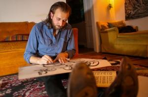 Jakob Battik at work.