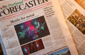 Grime Studios is front page news in this week's edition of The Forecaster.